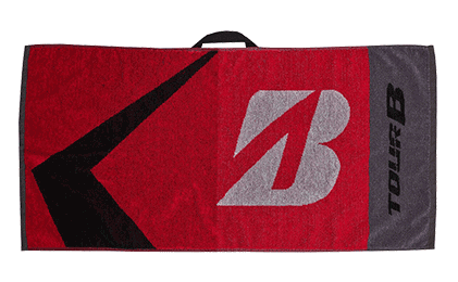 Bridgestone Golf Black Golf Towel