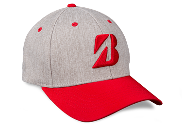 Bridgestone Golf Heather Combo Hat Red
